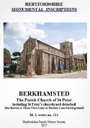 Monumental Inscriptions in Berkhamsted book