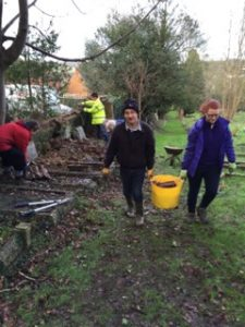 Working party at Rectory Lane Cemetery 10th January 2016