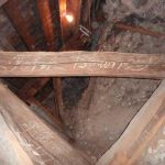 graffiti on the beams in the Lady Chapel roof space