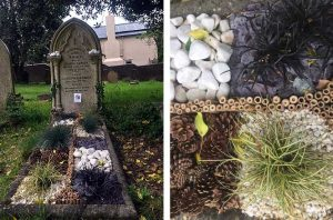 floral grave design by Myrtle and Bloom