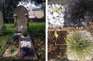 floral grave design by Myrtle and Bloom