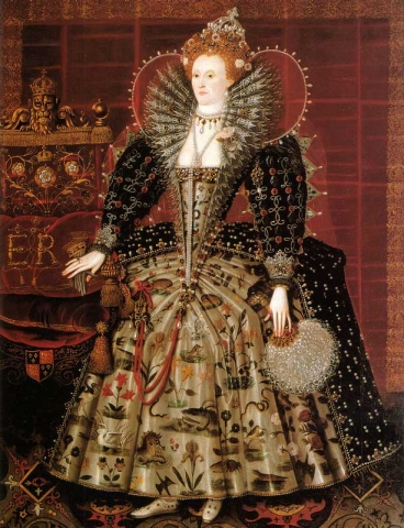 portrait of Elizabeth I in fine robes