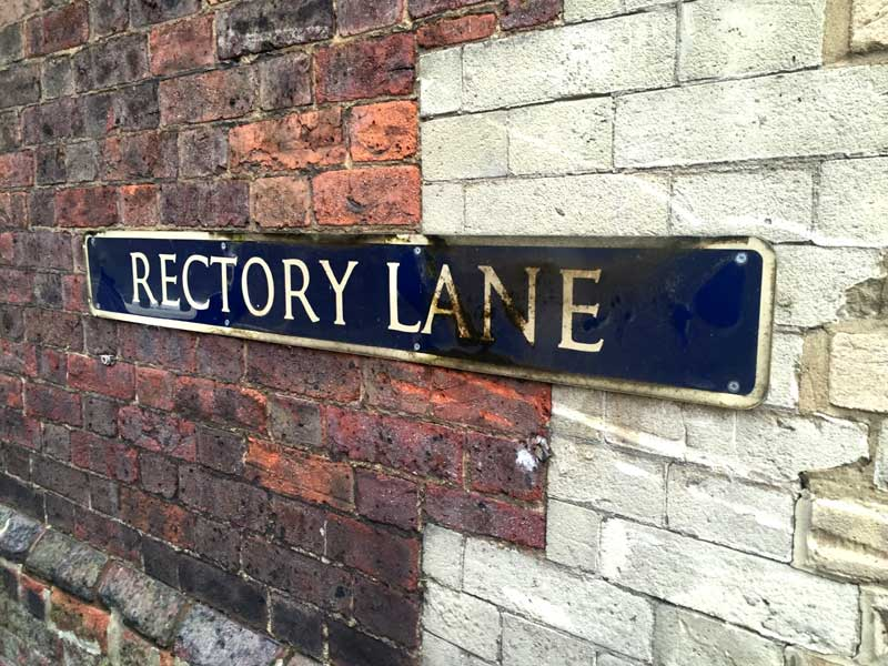 Rectory Lane sign