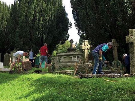 cemetery work party