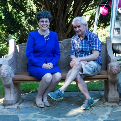 Sarah Foot and James Moir on the seat