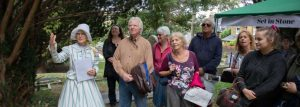 guided tour of the cemetery