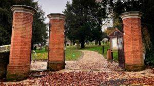 restored cemetery gates